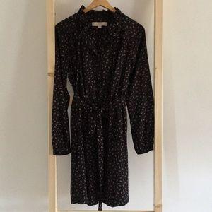Anne Taylor long Sleeve Silky Work Dress